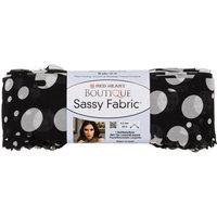 Coats & Clark Inc. Red Heart Boutique Sassy Fabric Yarn Black Dot