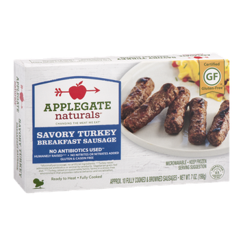 Applegate Naturals Breakfast Sausage Savory Turkey -10 CT