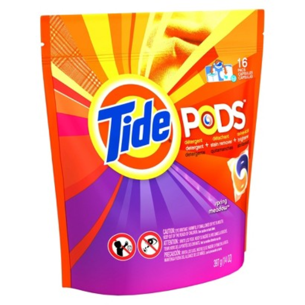 Tide Pods Spring Meadow Scent Laundry Detergent Pacs 16 ct
