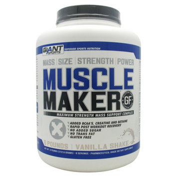 Giant Sports Products Muscle Maker Vanilla Shake - 6 lbs (2721.6 Grams)