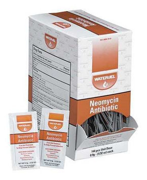First Aid Only Neomycin Antibiotic Ointment, Application: Antibiotics, Size: 0.9g, Box Package Type Model: M4003-144GR