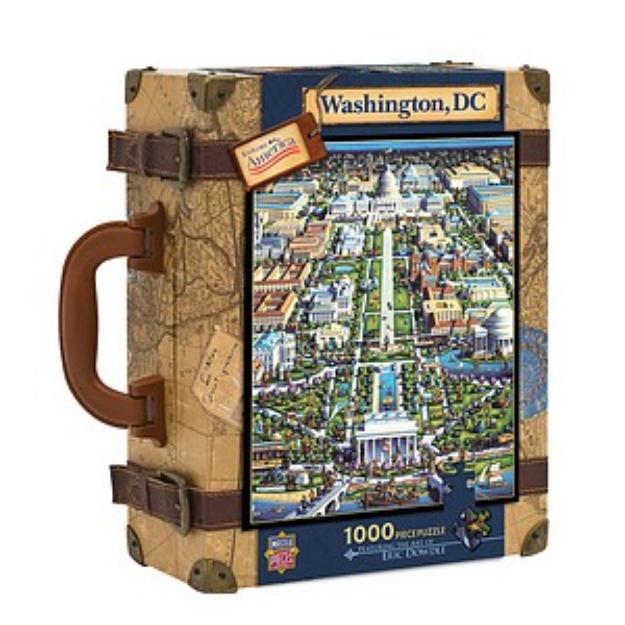 Master Pieces Explore America Washington, DC Suitcase Puzzle: 1000 Pcs Ages 10+, 1 ea