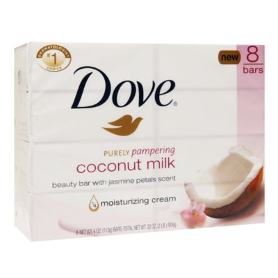 Dove Beauty Dove Purely Pampering Coconut Milk with Jasmine Petals Beauty Bar 4