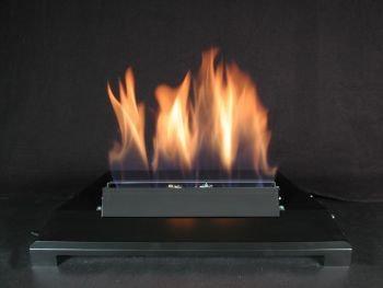 American Fireglass 20 Single Face Black finish Natural Gas Burner with Manual Control
