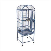 A & E Cage 9001818 White Dome Top Bird Cage Small