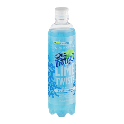 Fruit2O Lime Twists Sparkling Water Beverage Blueberry Lime