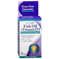 Natrol Fish Oil + Vitamin D3 Health & Immune Support