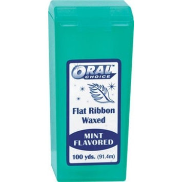 Oral Choice Waxed Flat Ribbon Mint Dental Floss,100 yd,6 pc