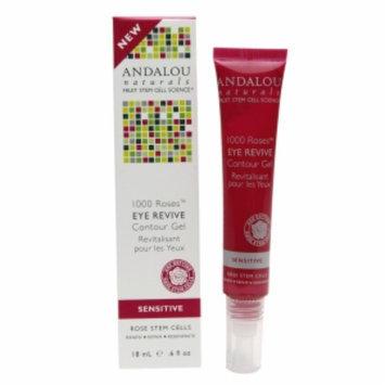 Andalou Naturals 1000 Roses Eye Revive Contour Gel, Unscented, .6 fl oz