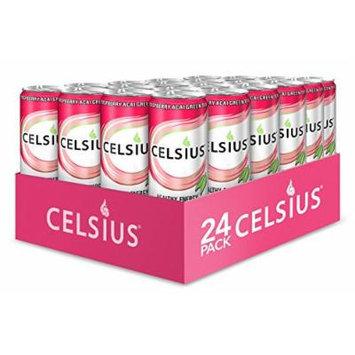Celsius Raspberry Acai Green Tea 12-Ounce (Pack of 24)