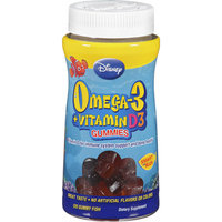 Disney Omega-3 Plus Vitamin D3 Gummy Fish Dietary Supplement