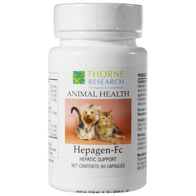 Thorne Research Animal Health Hepagen-Fc 60 Capsules