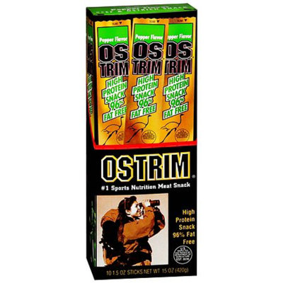 Ostrim Beef and Ostrich Snack Stick 10 Pack Pepper