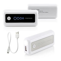5600mAh Universal Power Bank Backup External Battery Pack Portable USB Charger - White