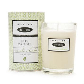 De-luxe de-luxe MAISON Pure Soy Candle, Cucumber Cilantro, 7 oz