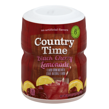 Country Time Black Cherry Lemonade Sugar Sweetened Powdered Soft Drink Cannister
