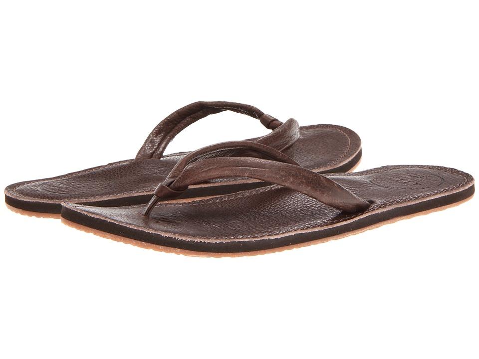 Reef Creamy Leather Flip Flop - Women's Dark Brown, 10.0