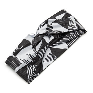 FILA Sport Geometric Knotted Headwrap (Black)