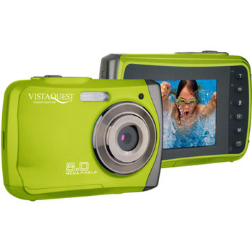 VistaQuest VQ-8920 8.0MP Underwater Digital Camera, Green w/ 8x Digital Zoom, 2.4