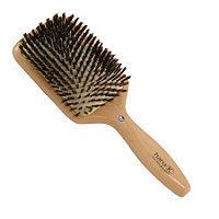 Hana K. Diamond Wood Boar Bristle Square Cushion Brush