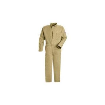 BULWARK CEC2KHRG62 Flame-Resistant Coverall, Khaki,62