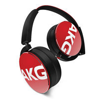 Akg. AKG Y50 On-Ear Headphones With Universal One Button Remote Control (Red)