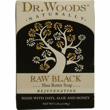 Dr. Woods 1053396 Raw Black Shea Butter Bar Soap