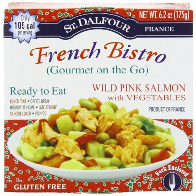 St Dalfour St. Dalfour French Bistro (Gourmet On The Go), Ready to Eat Wild Pink Salmon, 6.2-Ounce Tins (Pack of 6)