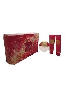 Bebe Glam for Women 3 Piece Gift Set (3.4 Ounce Eau de Parfum Spray Plus Body Lotion Plus Shower Gel)