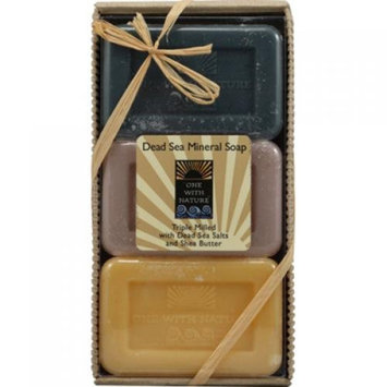 One With Nature Dead Sea Mineral Soap Gift Set