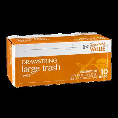 Guaranteed Value Drawstring Large Trash Bags