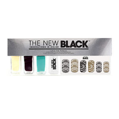 The New Black Lace the Punch 5-Piece Nail Color Set, 1 ea