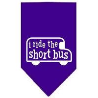 Ahi I ride the short bus Screen Print Bandana Purple Small