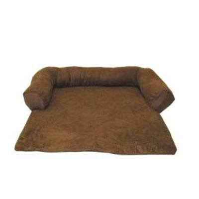 Everest Pet Small Protector Pad with Bolster - Brown-DISCONTINUED