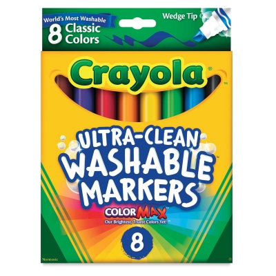 Crayola Classic Color Washable Markers wedge tip pack of 8