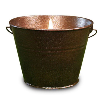 Kohls Citronella Hammered Copper Pail 18-oz. Candle (Brown)