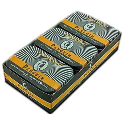 Penguin Mints   Energy Gum Penguin Caffeinated Peppermints, 1.75 oz Tins (Pack of 6)