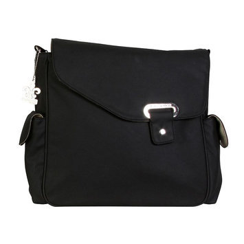 Kalencom Corporation Kalencom Vegan Diaper Messenger Bag Black - Kalencom Diaper Bags