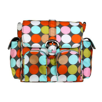 Kalencom Corporation Kalencom Matte Double Duty Spa Dots Diaper Bag