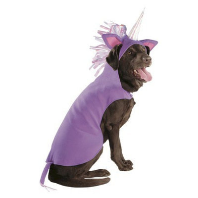 Boots & Barkley Boots and Barkley Unicorn Partial/Hoodie Pet Costume - XLarge