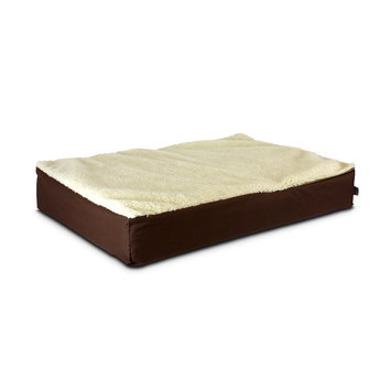 Snoozer Super Ortho Lounger Dog Bed Large/ Brown/Creme Top