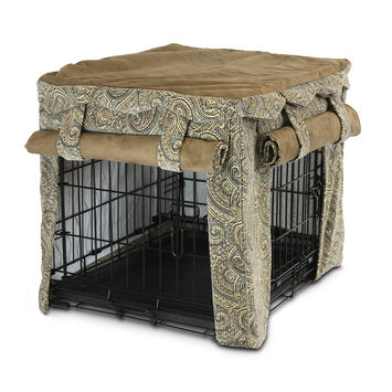 O'Donnell Industries 82941 Cabana 3X-Large Pet Crate Cover - Sicilly Coffee