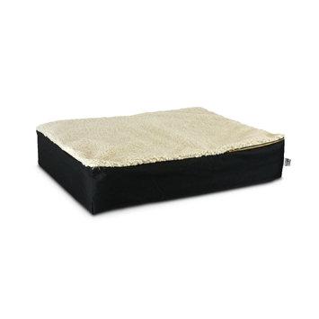 Snoozer Super Ortho Lounger Dog Bed Large/ Black/Creme Top
