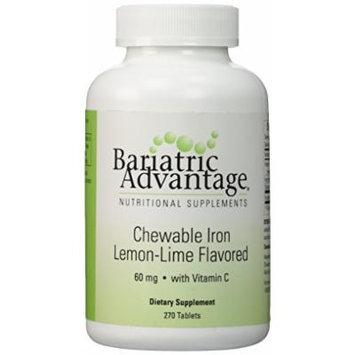 Bariatric Advantage Lemon-Lime Chewable Iron w/60 mg 270 count bottle