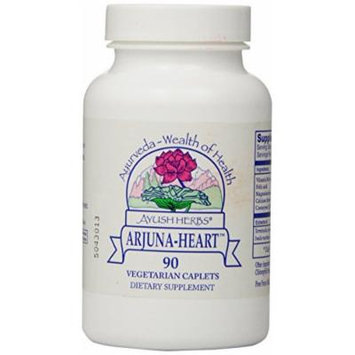 Ayush Herbs Inc Herbal Supplement, Arjuna Heart, 90 Count