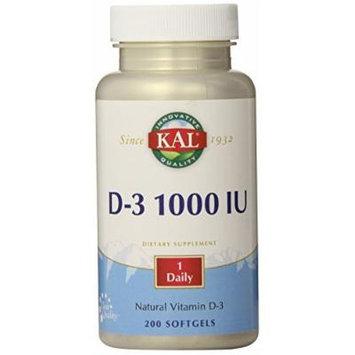 KAL D-3 1000 IU Softgels, 200 Count
