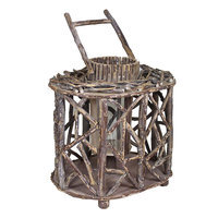Entrada Large Wooden Lantern (Beige/Khaki)