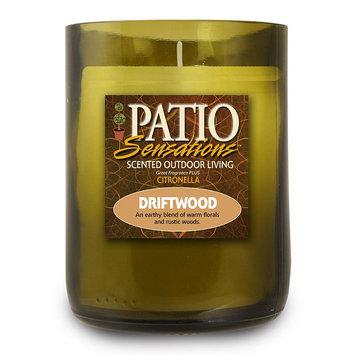 Patio Sensations Driftwood Citronella 9-oz. Wine Jar Candle (Green)