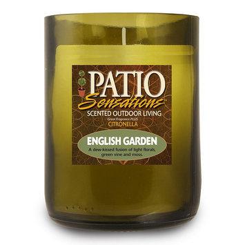 Patio Sensations English Garden Citronella 9-oz. Wine Jar Candle (Green)