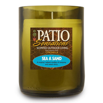 Patio Sensations Sea & Sand Citronella 9-oz. Wine Jar Candle (Green)